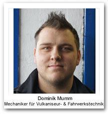 Dominik Mumm Vulkaniseur Fahrzeugtechnik